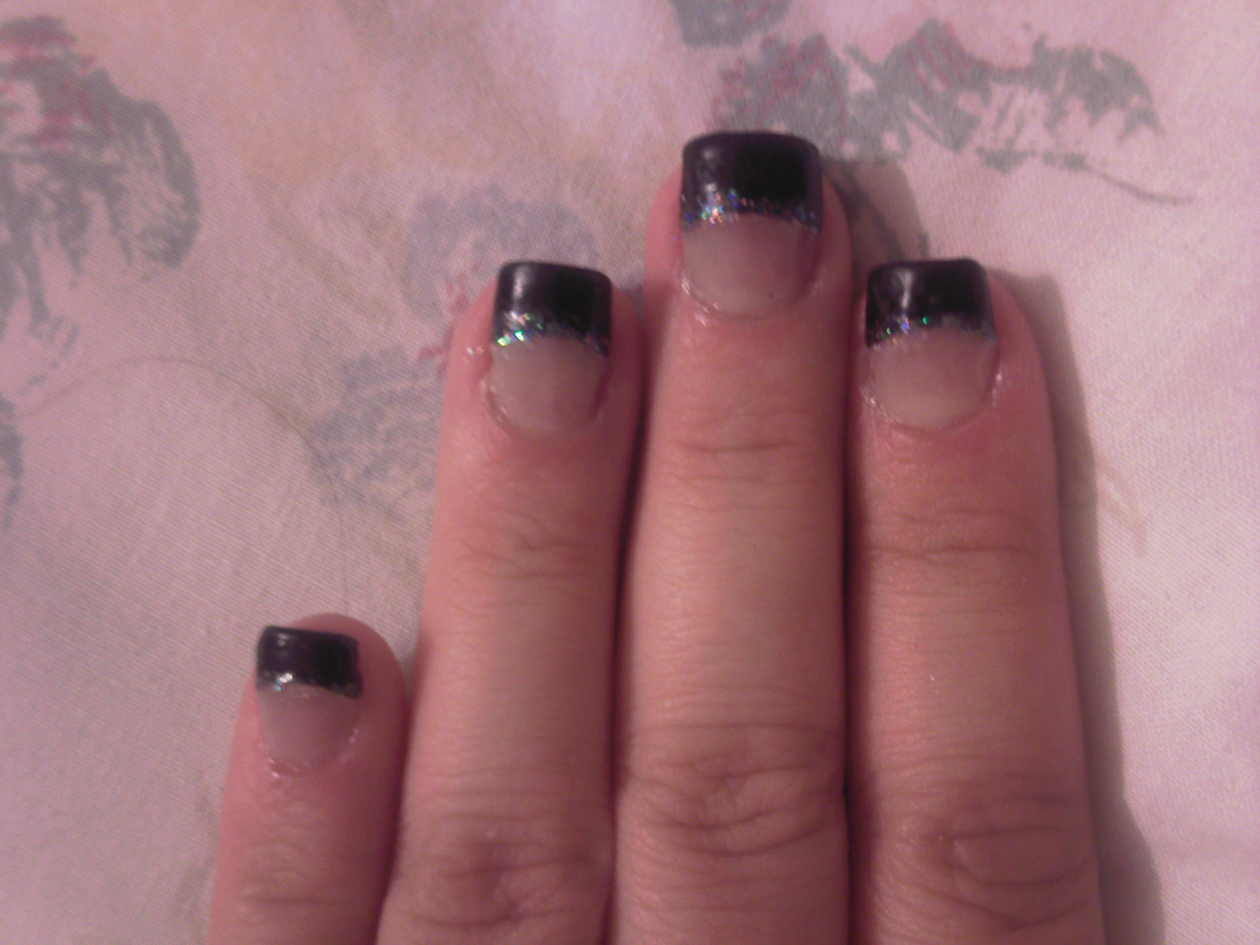 Acrylic Nails Through The Looking Glass